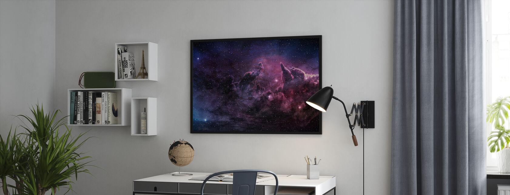 Nebula og kosmisk støv - Plakat - Kontor