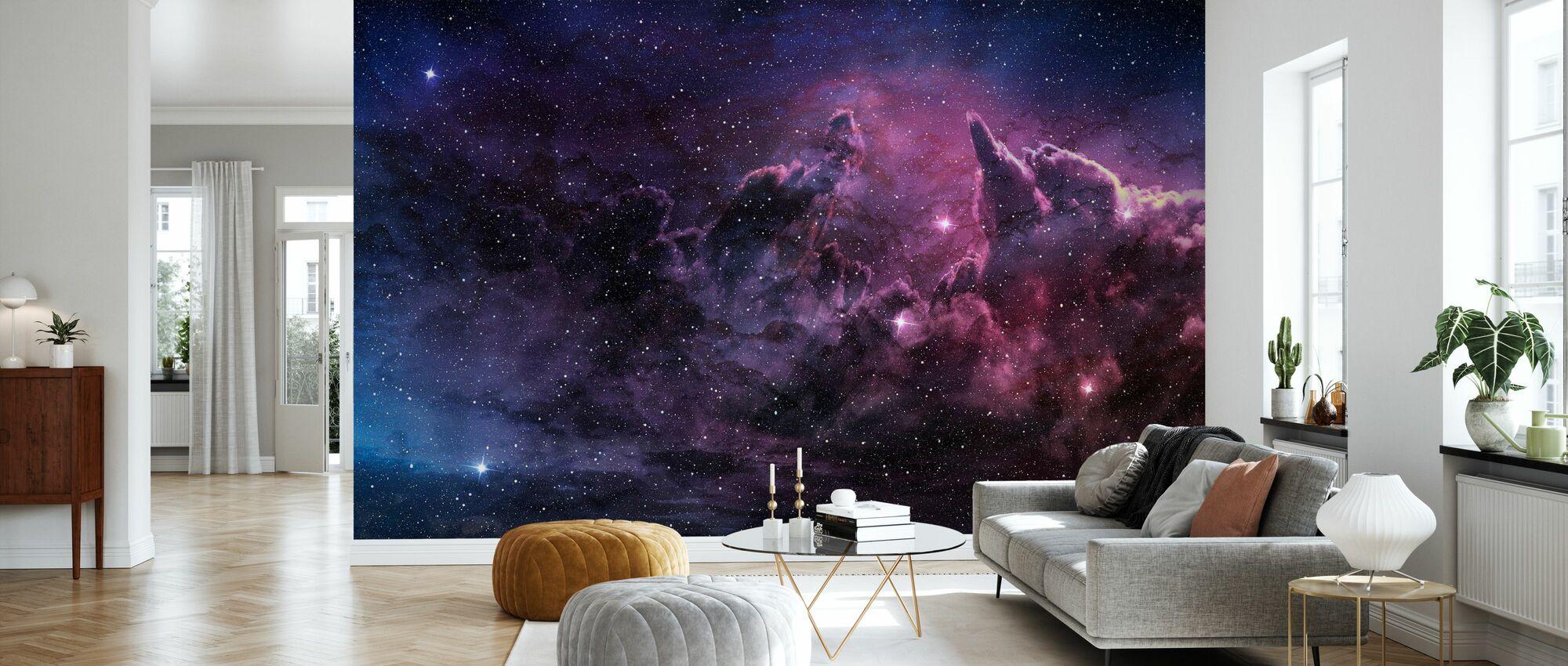 Nebulosa och kosmiskt damm - Tapet - Vardagsrum