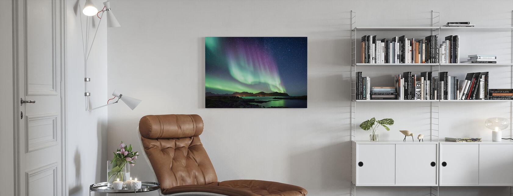 Aurora Borealis Nordlys - Lerretsbilde - Stue