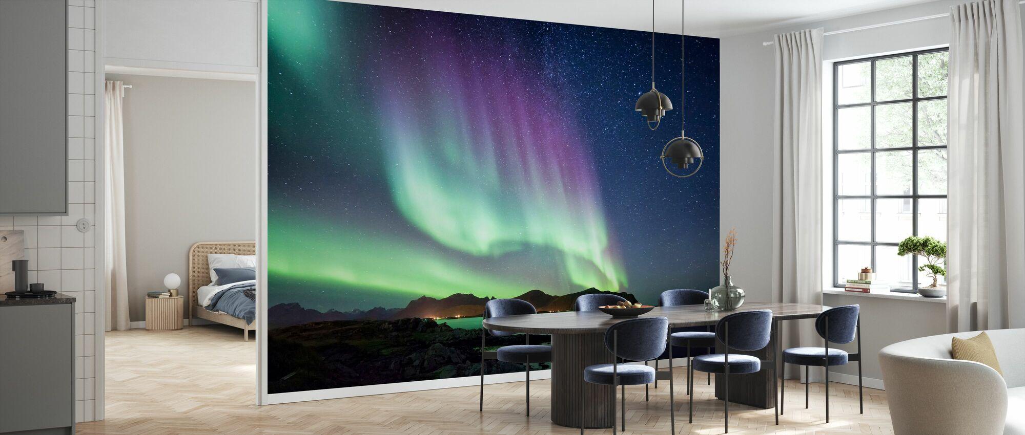 Aurora Borealis Northern Lights - Wallpaper - Kitchen