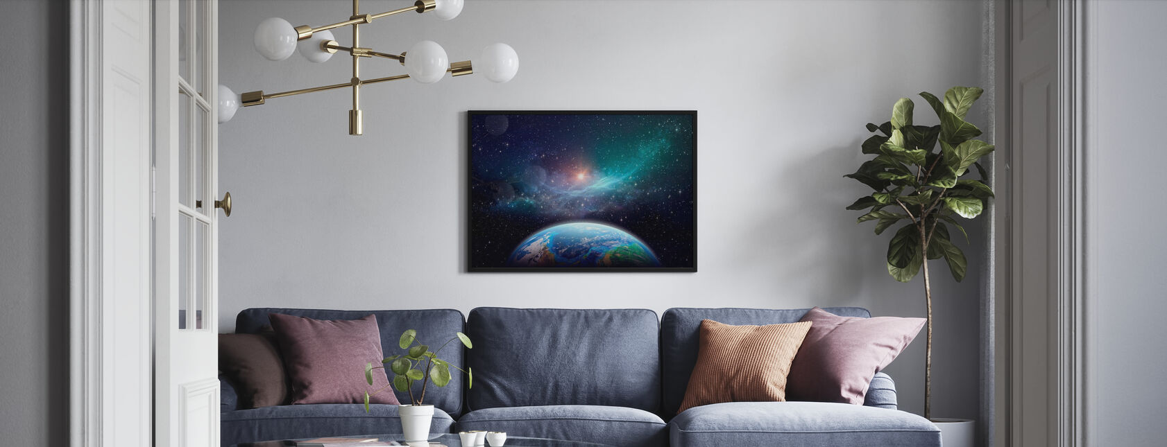 Exoplanet in Deep Space - Poster - Living Room