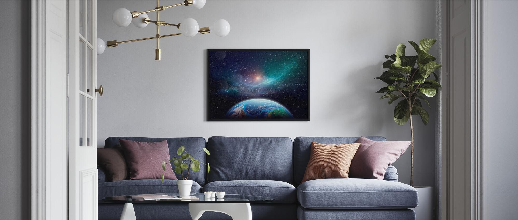 Exoplanet i det dybe rum - Plakat - Stue