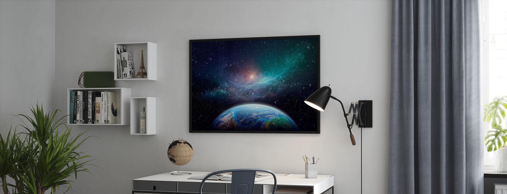 Exoplanet i Deep Space - Innrammet bilde - Kontor