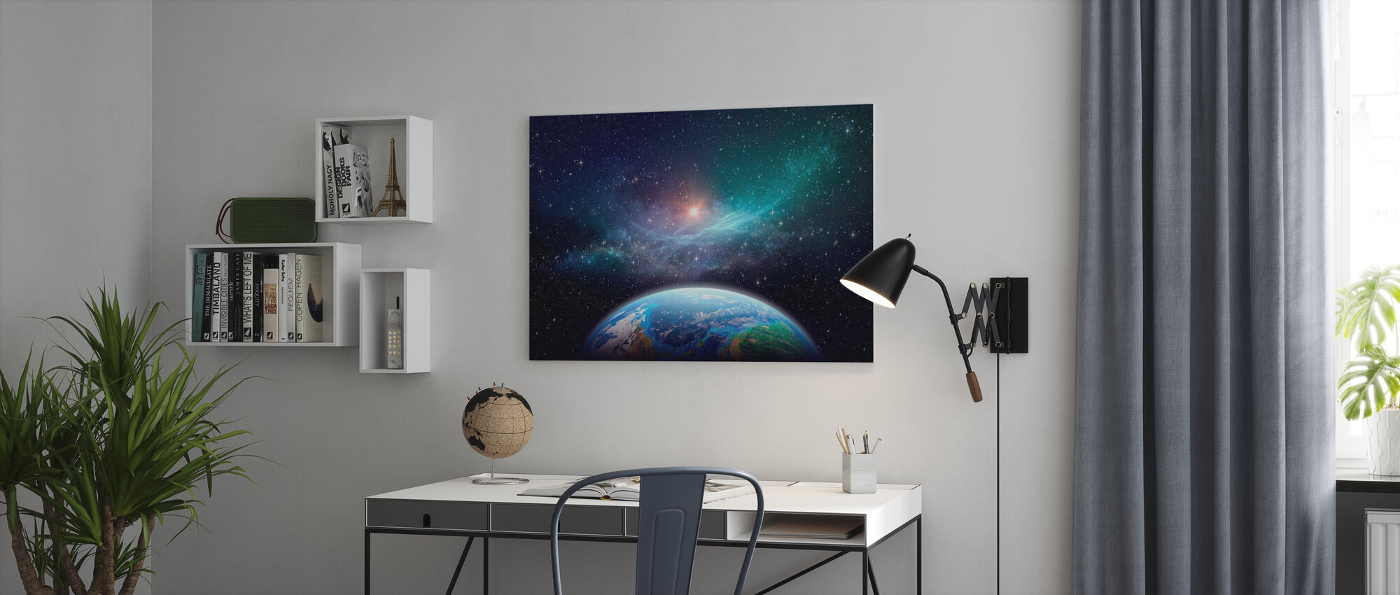 Exoplanet in Deep Space - Canvas print - Office