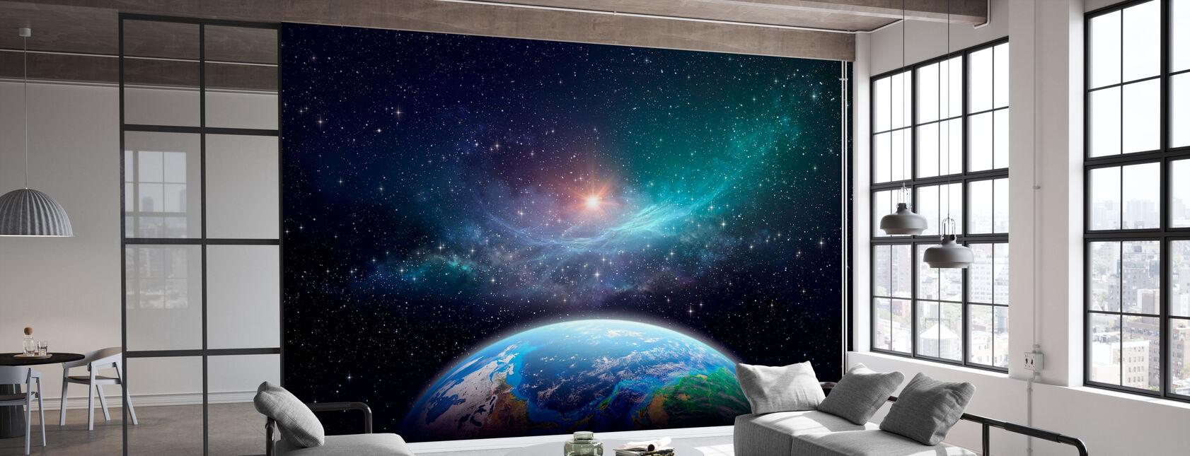 Exoplanet in de diepe ruimte - Behang - Kantoor