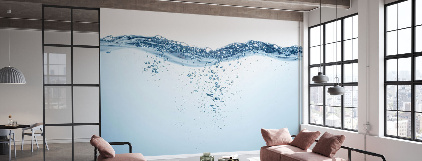 Water Splash and Bubbles - Wallpaper - Office