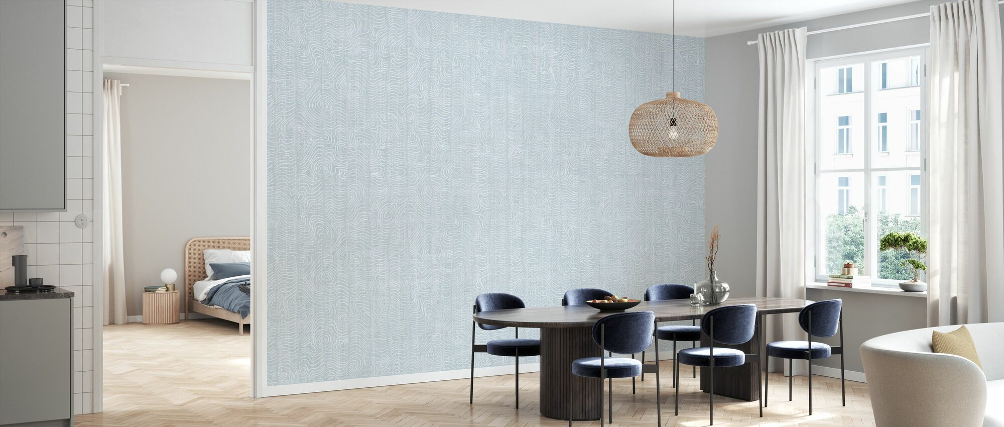 Nami - Real Duckegg - Wallpaper - Kitchen