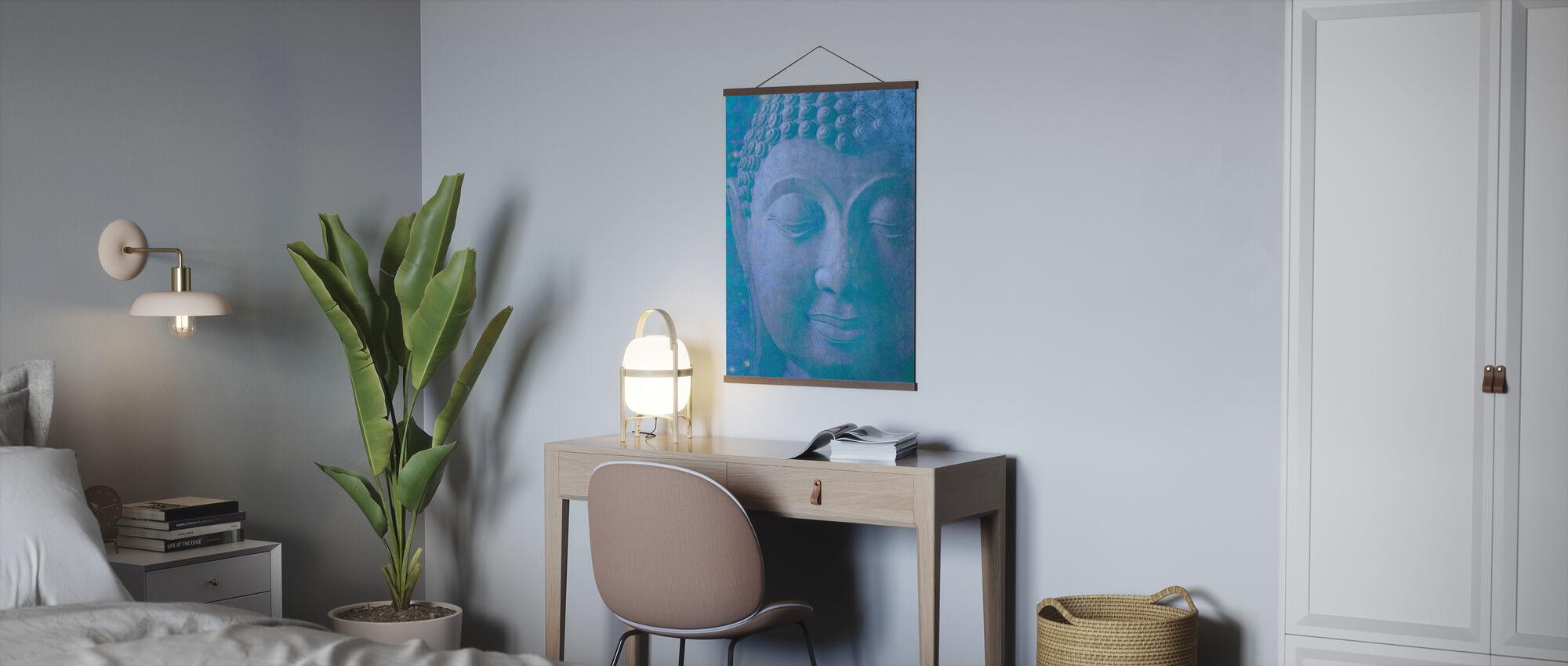 Blå Buddha - Plakat - Kontor