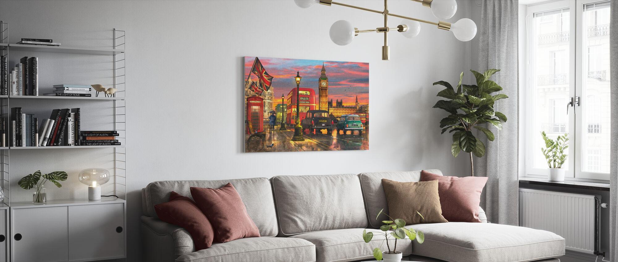 Raining Parliament Square - Canvas print - Living Room
