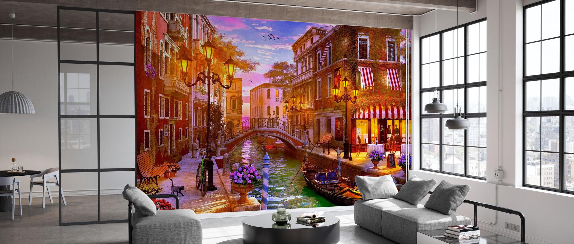 Evening Gondola Ride - Wallpaper - Office