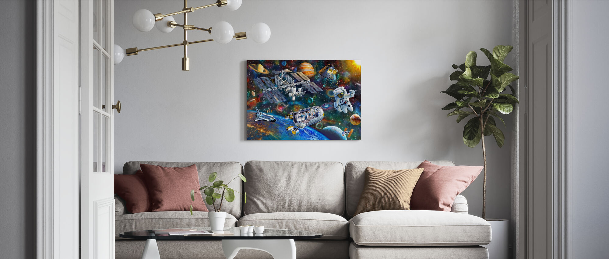 Space Station - Canvas print - Living Room