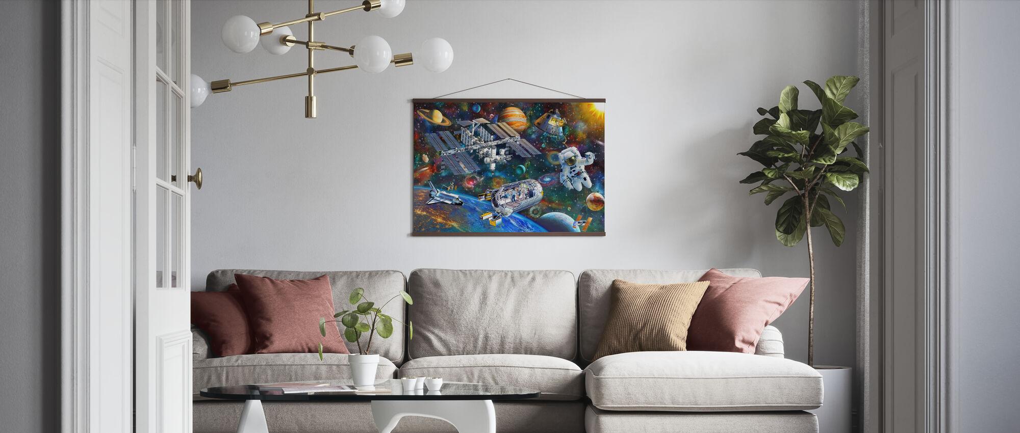 Raumstation - Poster - Wohnzimmer