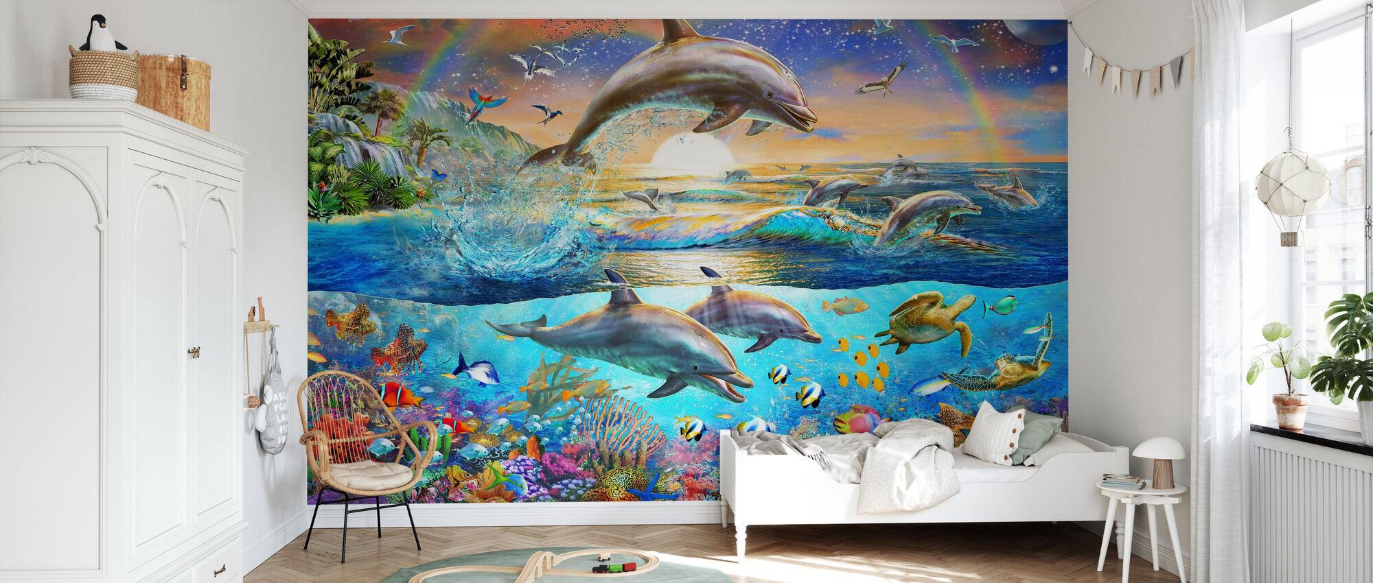 Dolphin Treasure - Wallpaper - Kids Room