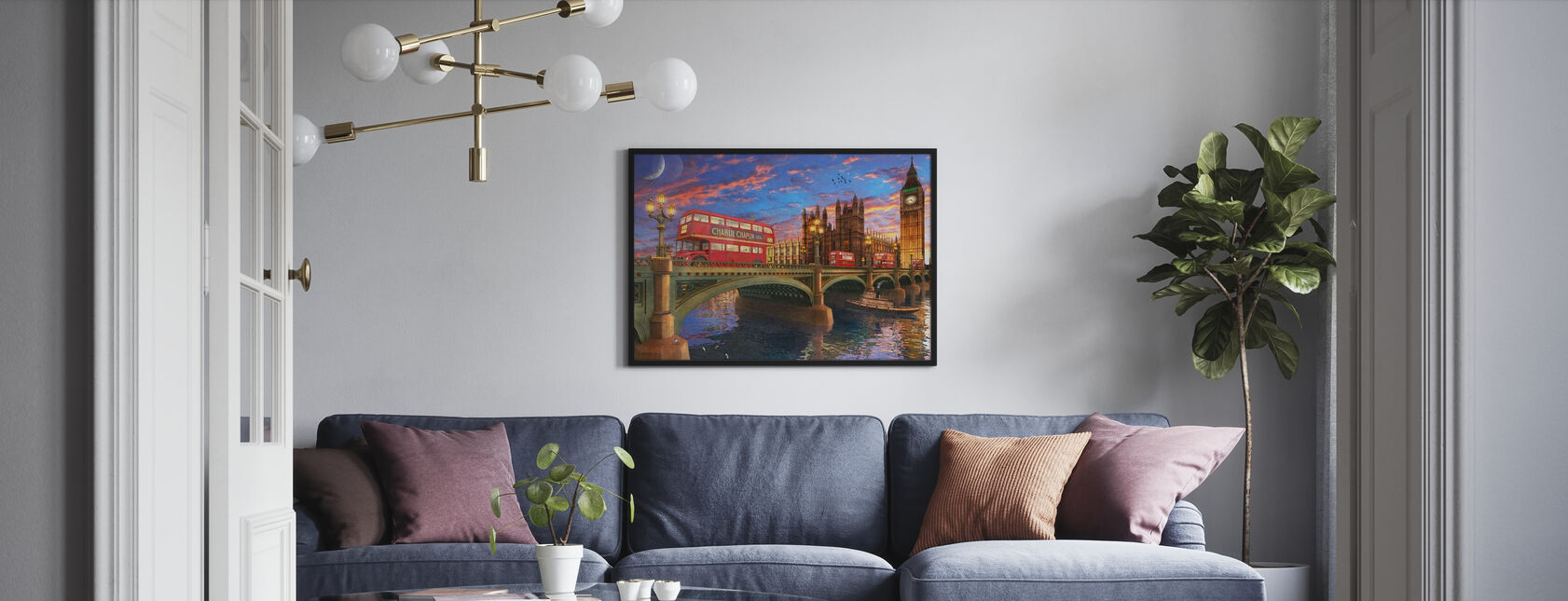 Sunset Over Parliament - Poster - Living Room