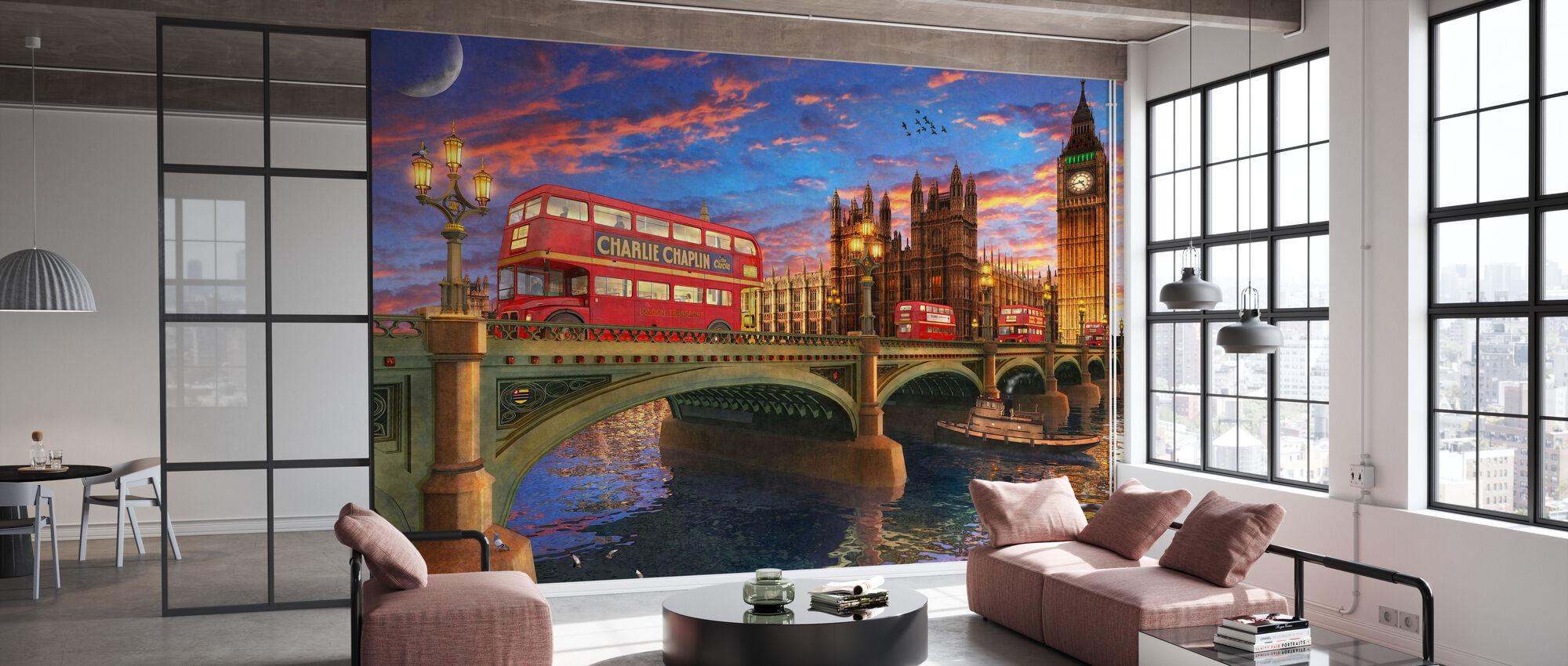 Sunset Over Parliament - Wallpaper - Office