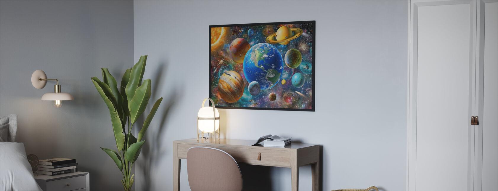 Sonnensystem - Poster - Schlafzimmer