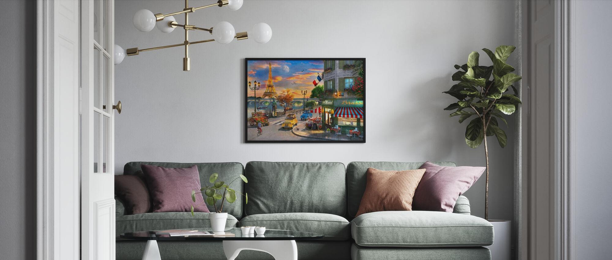 Paris Street Cafe - Framed print - Living Room