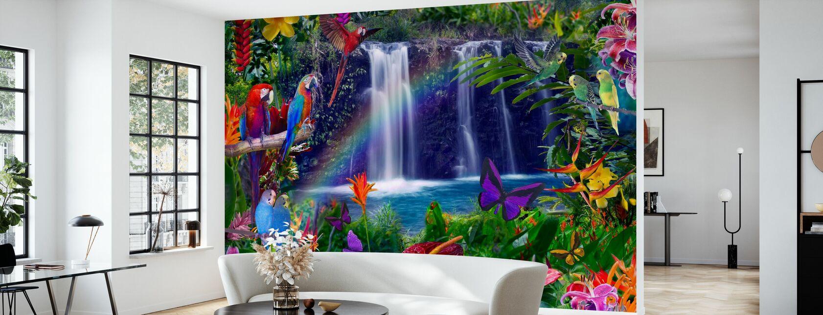 Hana Rainbow Waterfall - Wallpaper - Living Room