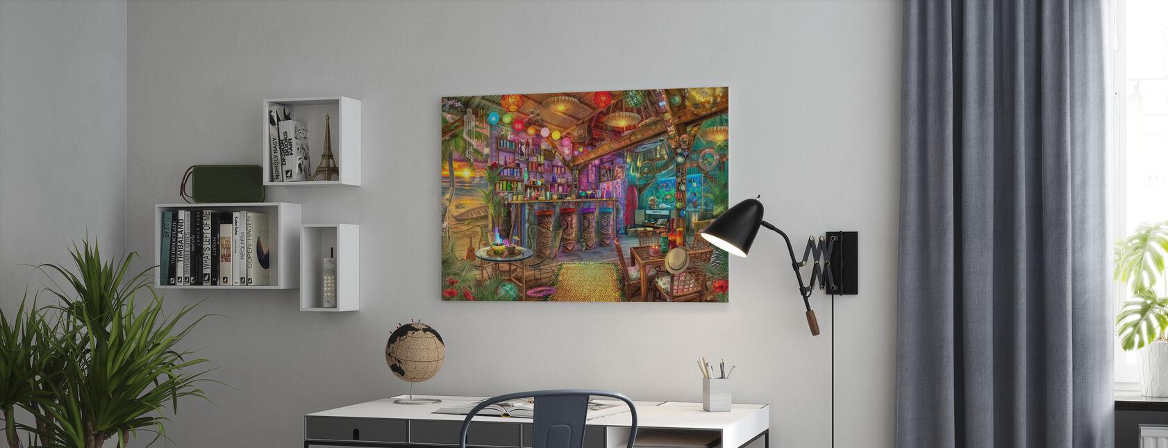 Tiki Beach Sunset - Canvas print - Office