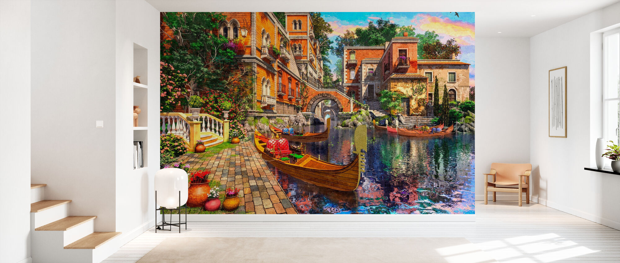 Venice View - Wallpaper - Hallway