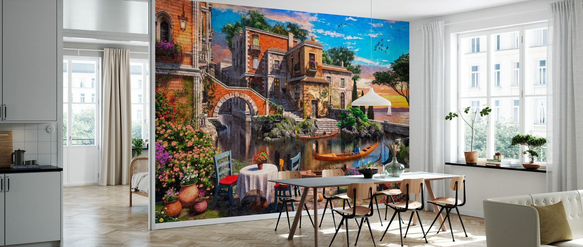 Venice Terrace View - Wallpaper - Kitchen
