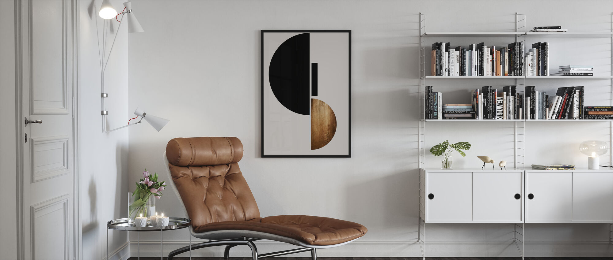 Shape No 3 - Poster - Living Room