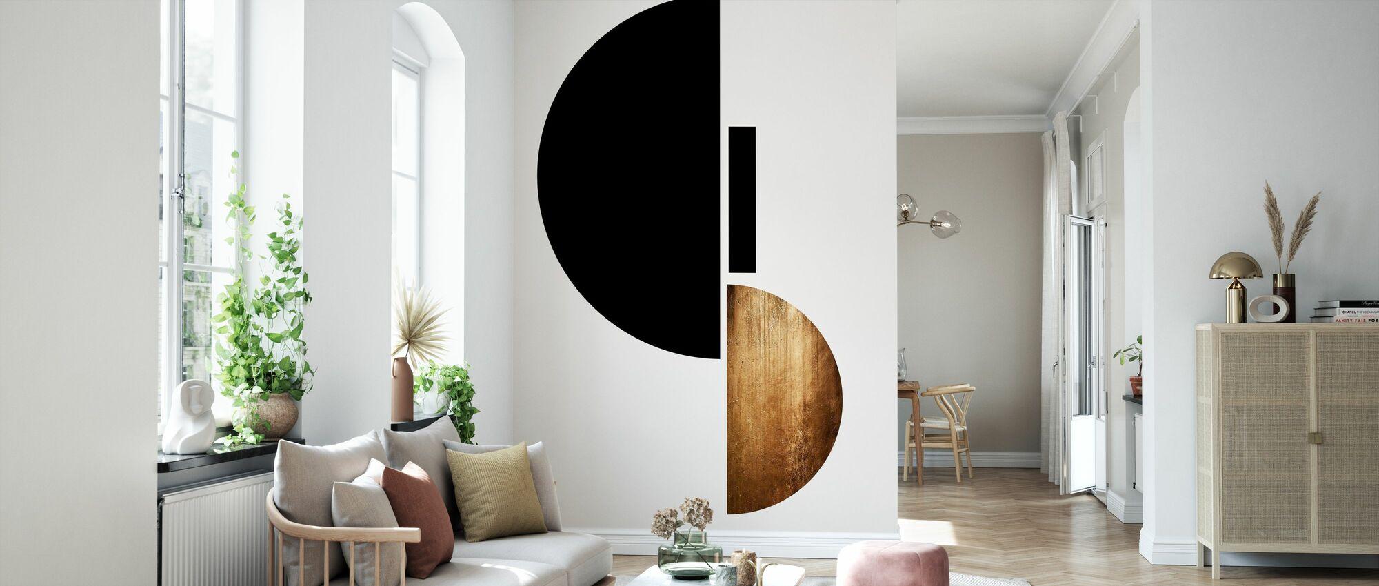 Form Nr. 3 - Tapete - Wohnzimmer