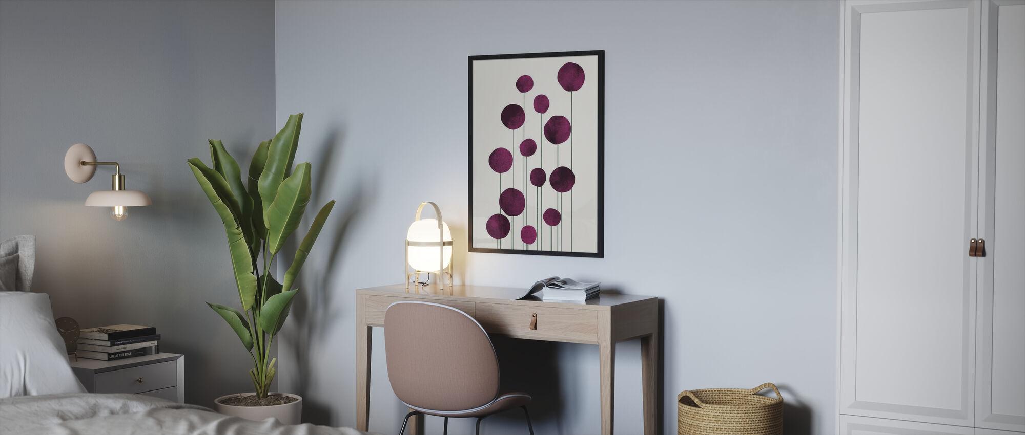 Vatten Blommor - Poster - Sovrum