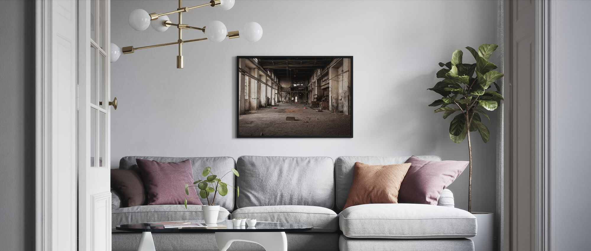 Old Industrial Building - Poster - Living Room