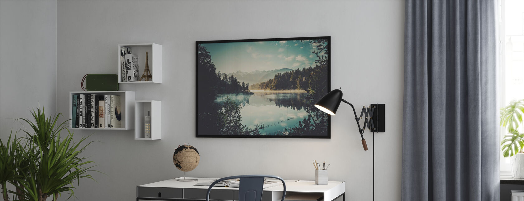 Lake Matheson at Sunrise - Poster - Office