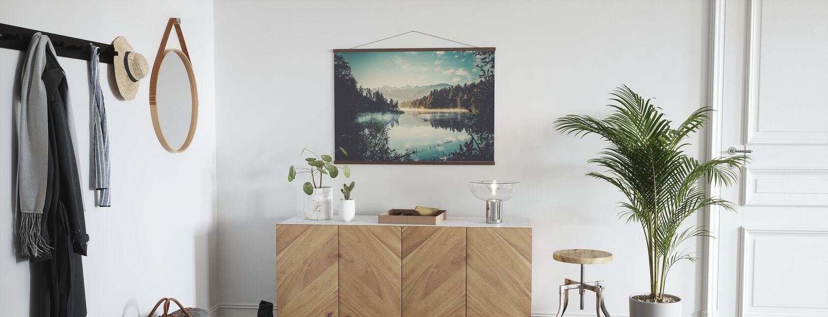 Lake Matheson at Sunrise - Poster - Hallway
