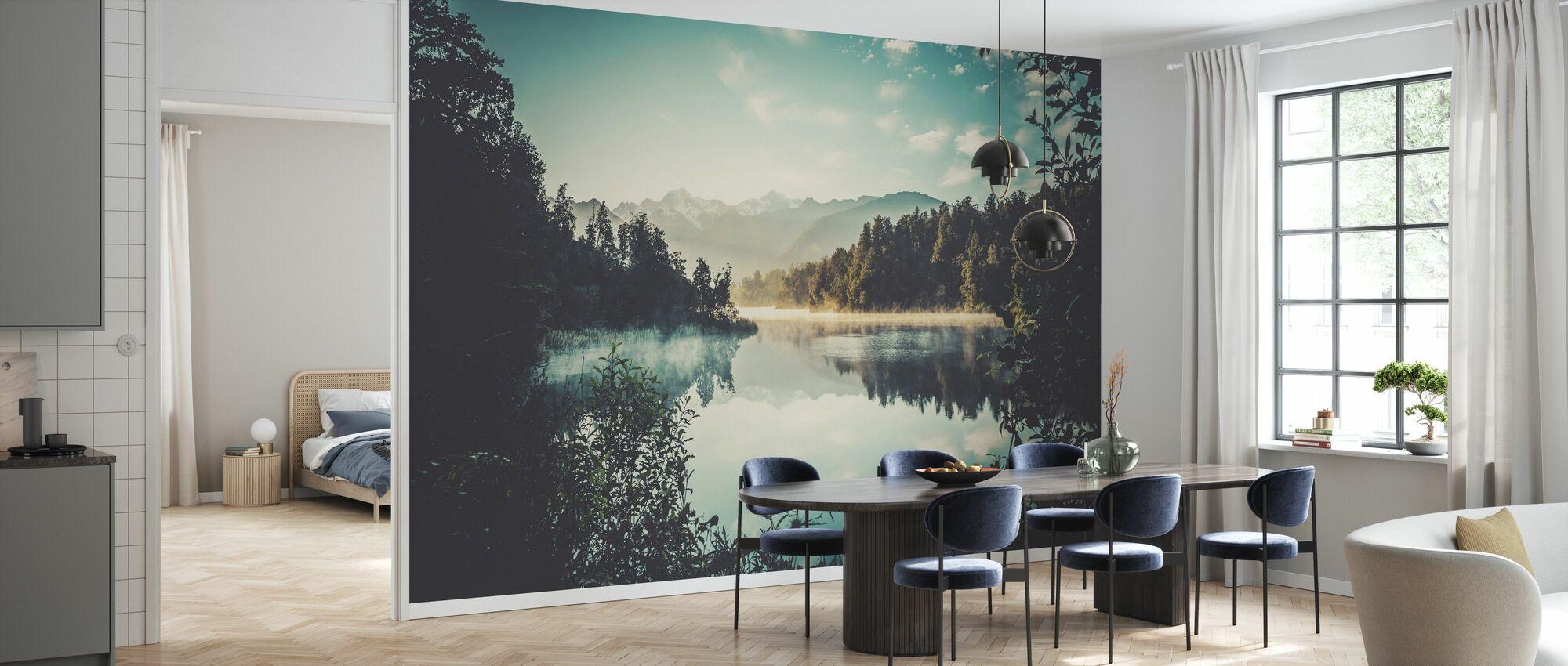 Lake Matheson at Sunrise - Wallpaper - Kitchen