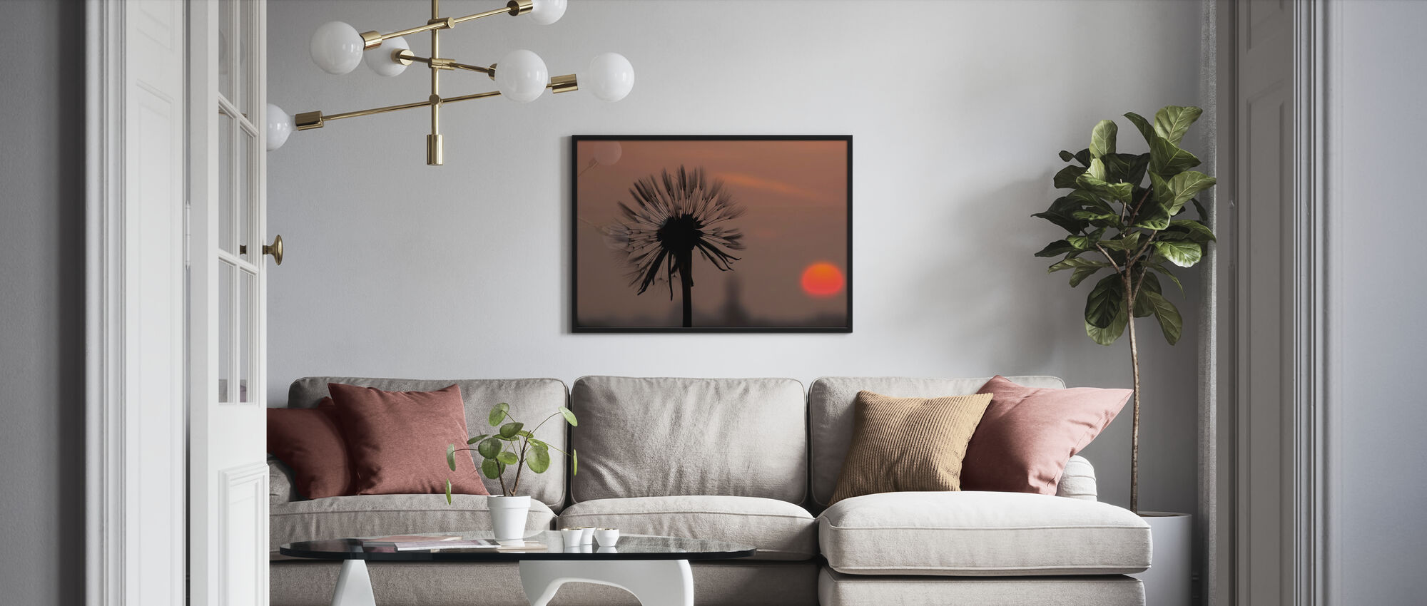 Dandelion and Silhouette Sun - Poster - Living Room