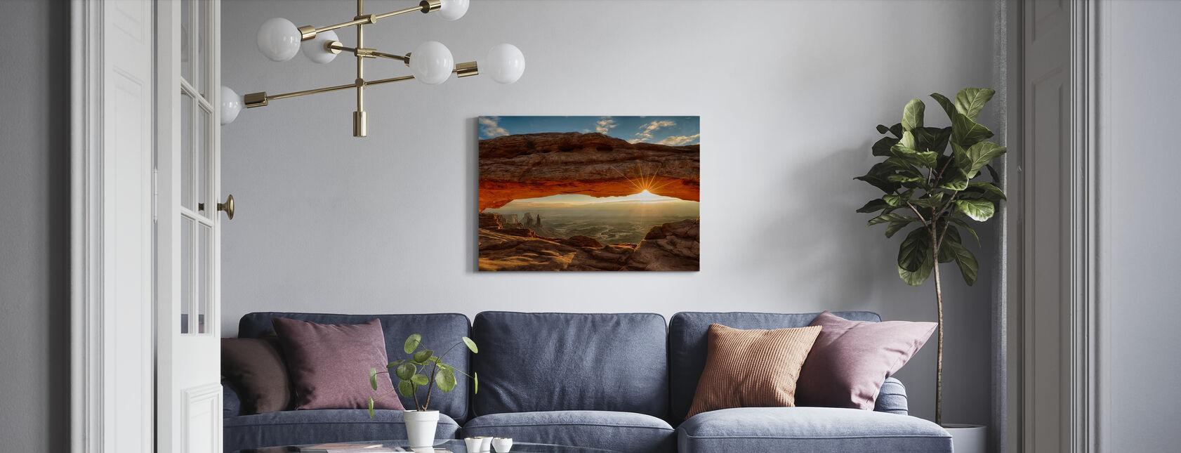 Mesa Arch Dawn Sunburst - Lerretsbilde - Stue