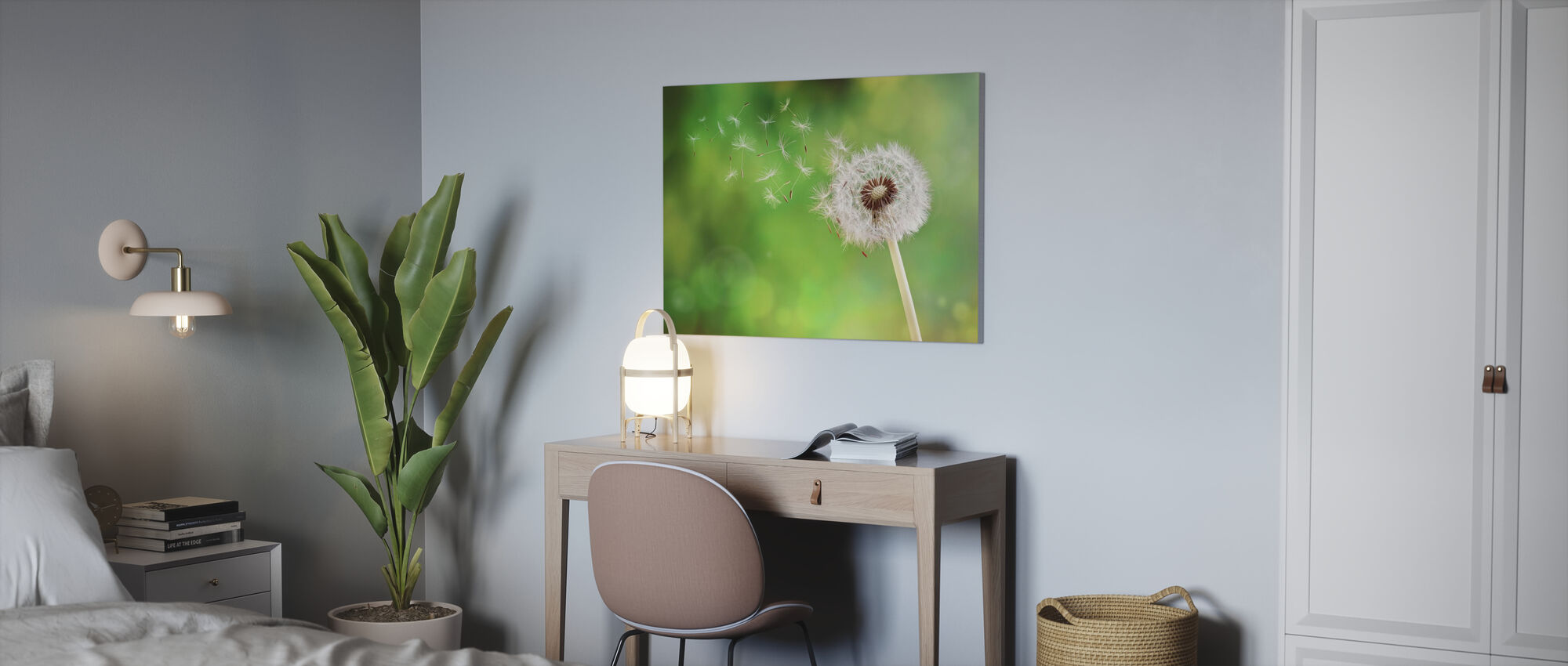 Dandelion Dispersing Seed - Canvas print - Office