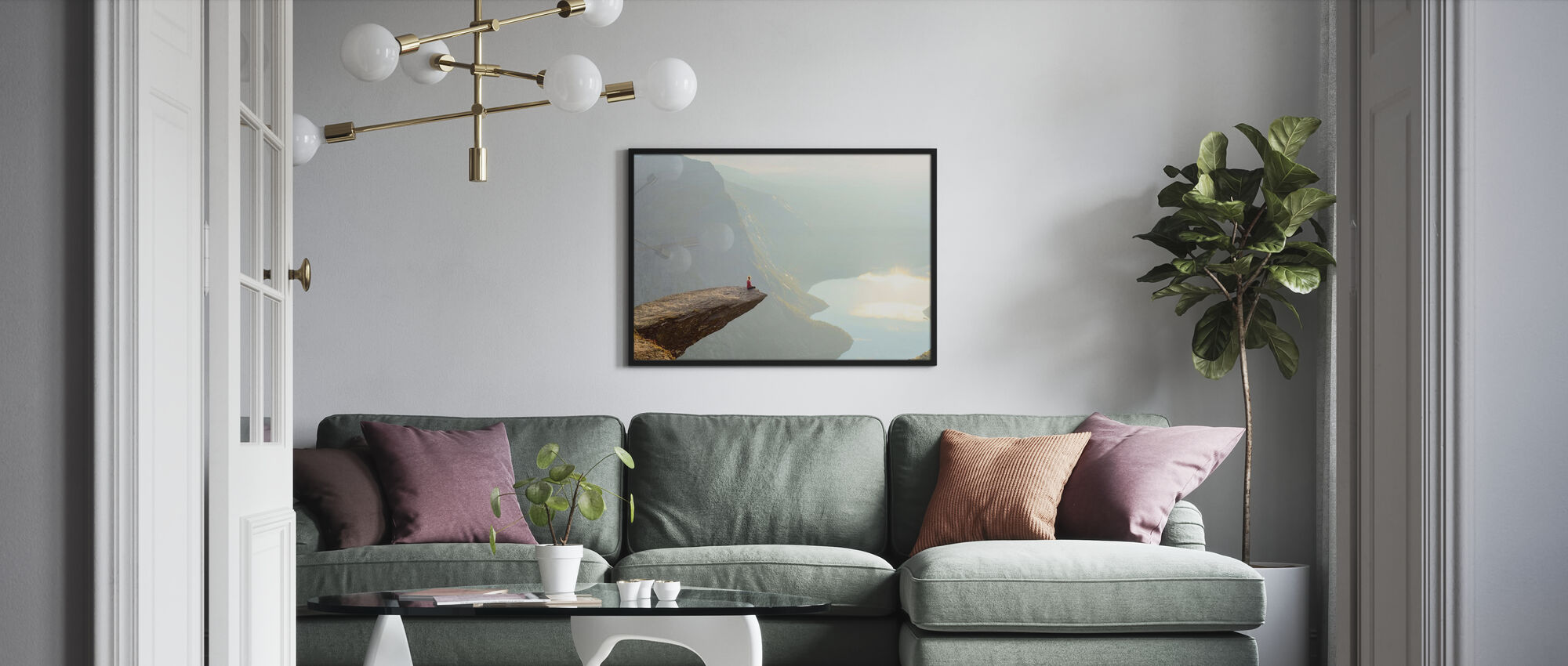 Edge of a Cliff - Poster - Living Room