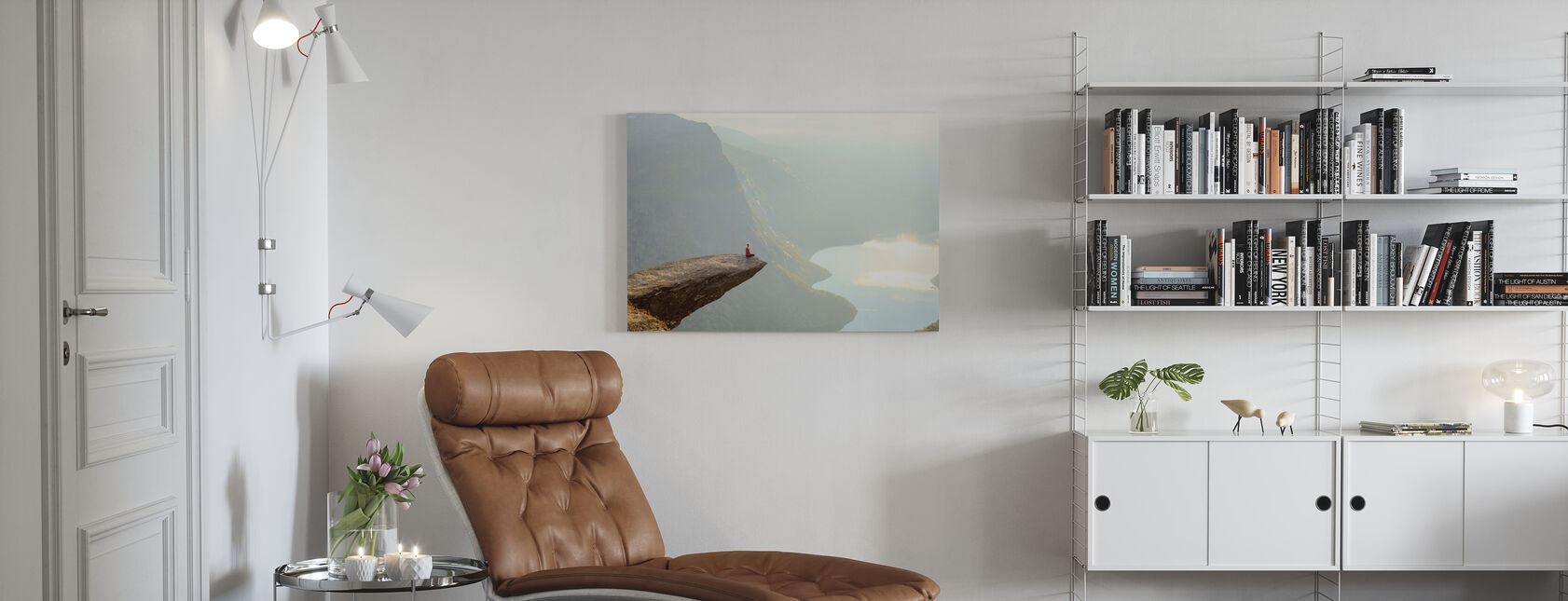 Edge of a Cliff - Canvas print - Living Room