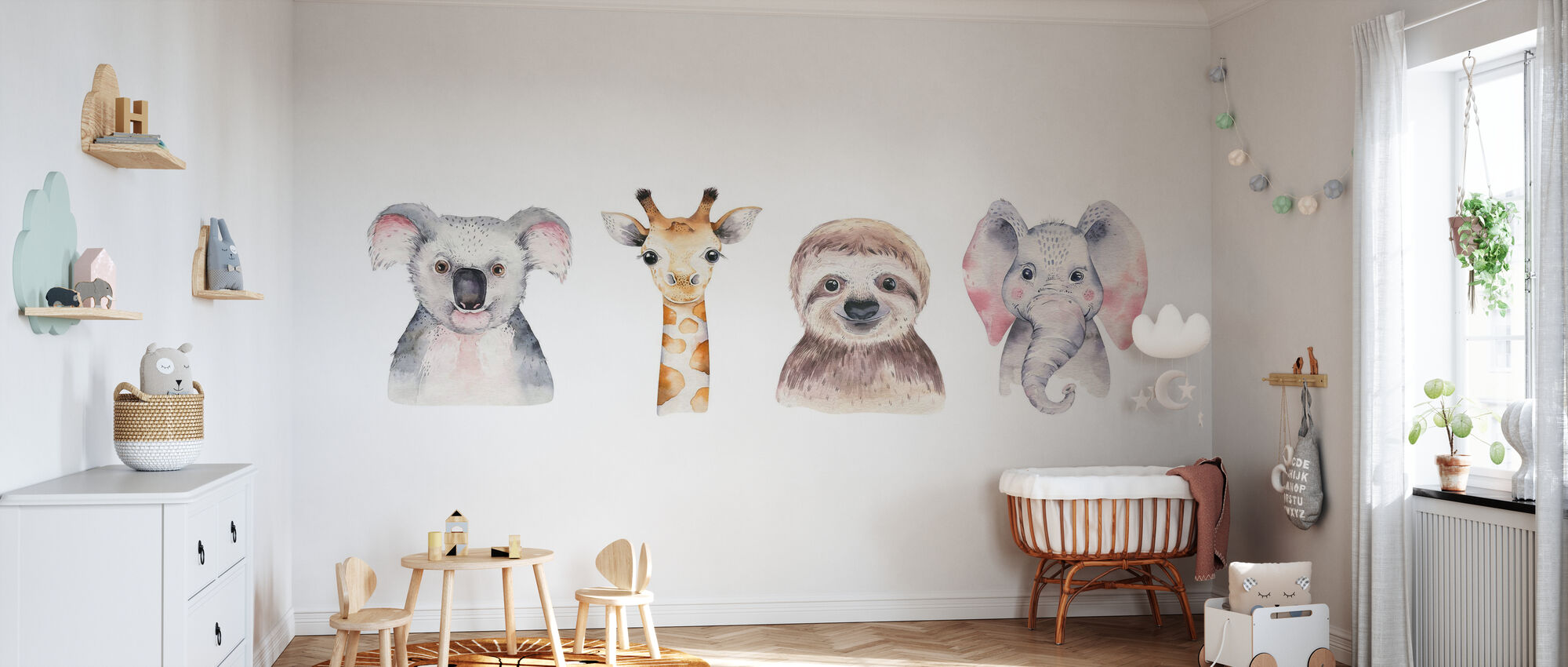 Baby Tiere - Tapete - Babyzimmer