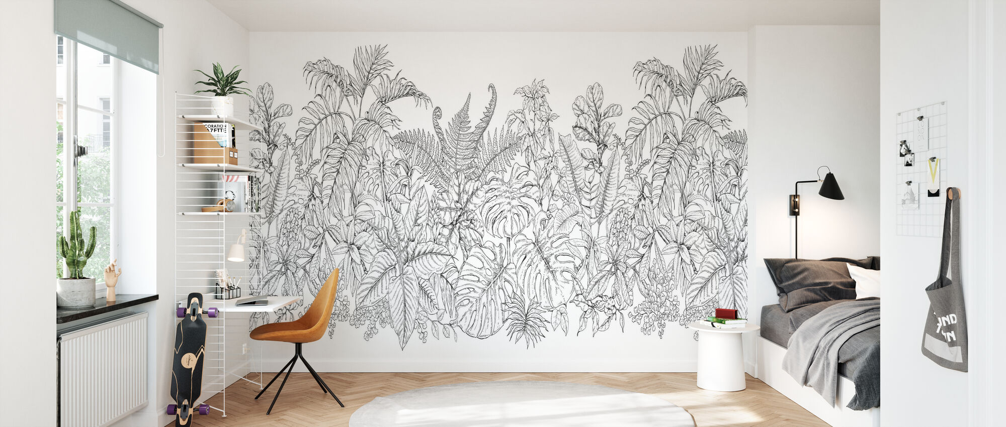 Tropical Plants - Wallpaper - Kids Room