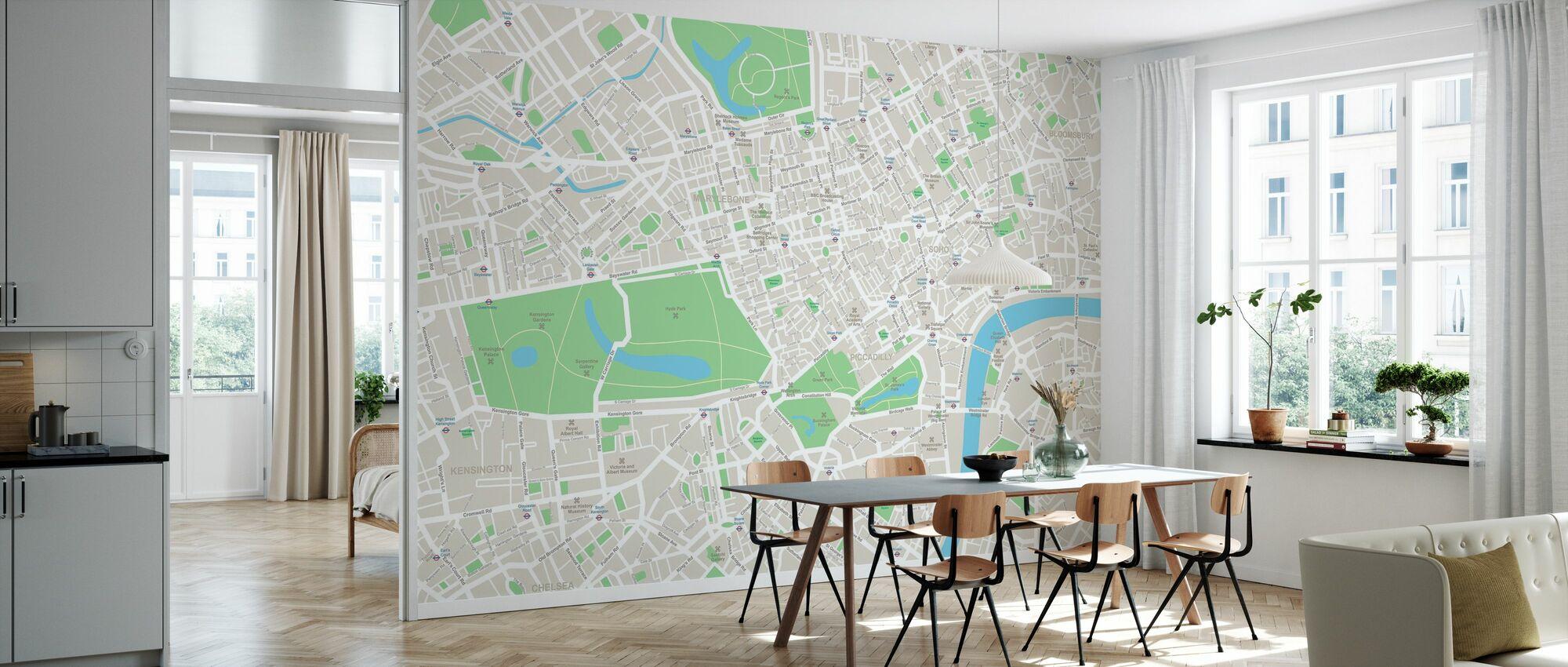 London Map - Wallpaper - Kitchen