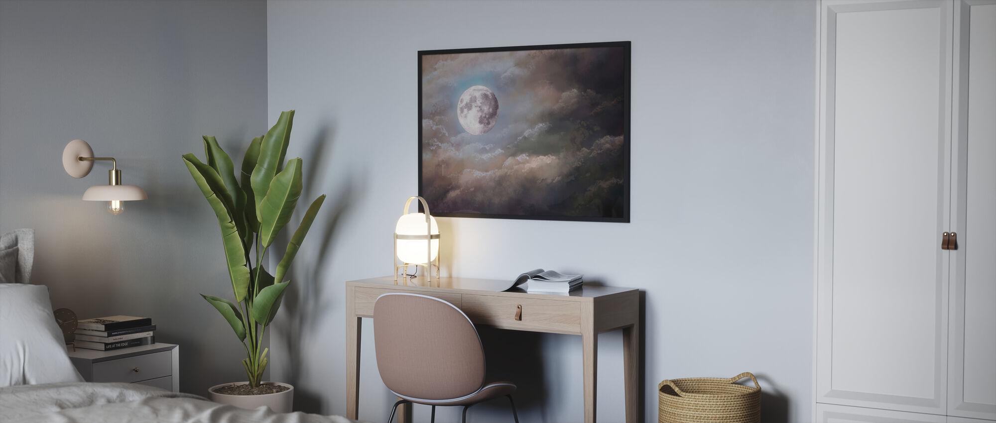 Full Moon Night - Poster - Bedroom