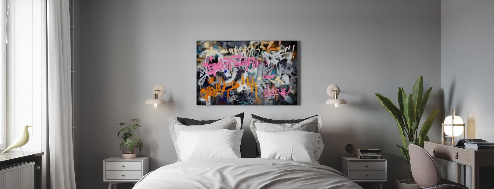 Graffiti-bylinjen - Lerretsbilde - Soverom