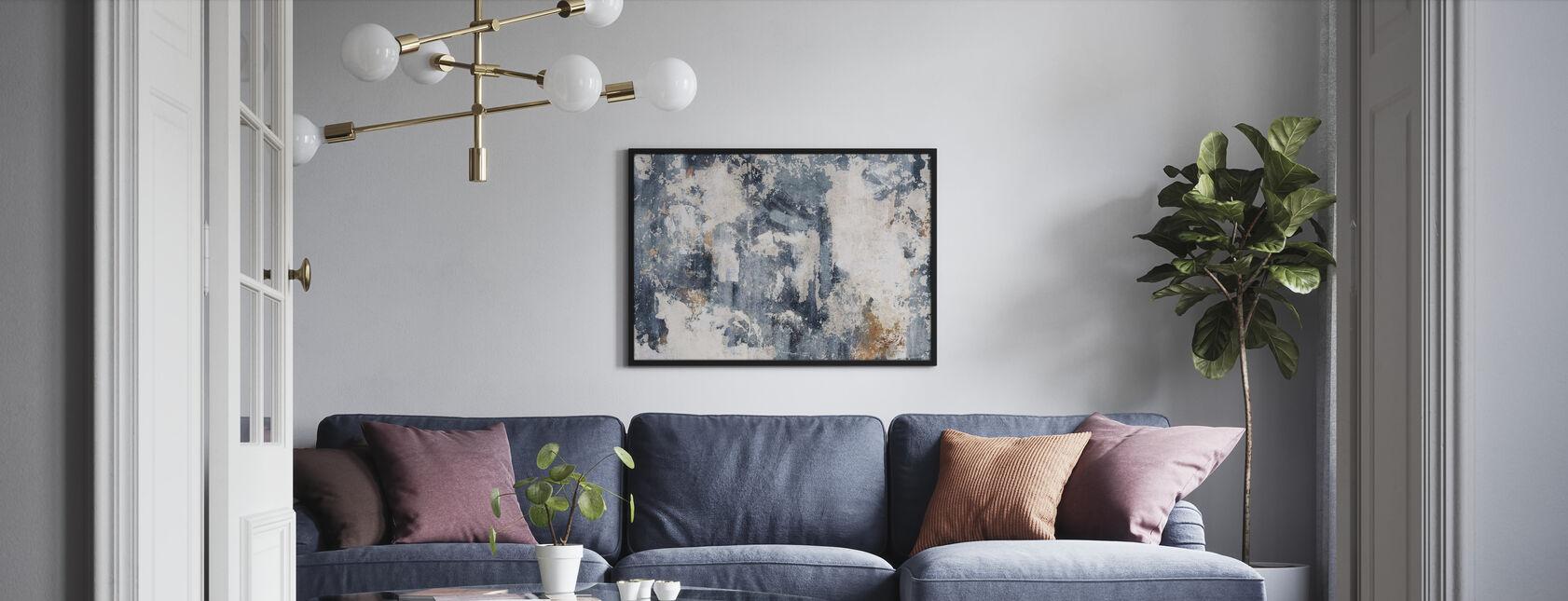 Grunge Wall - Bluish - Poster - Living Room
