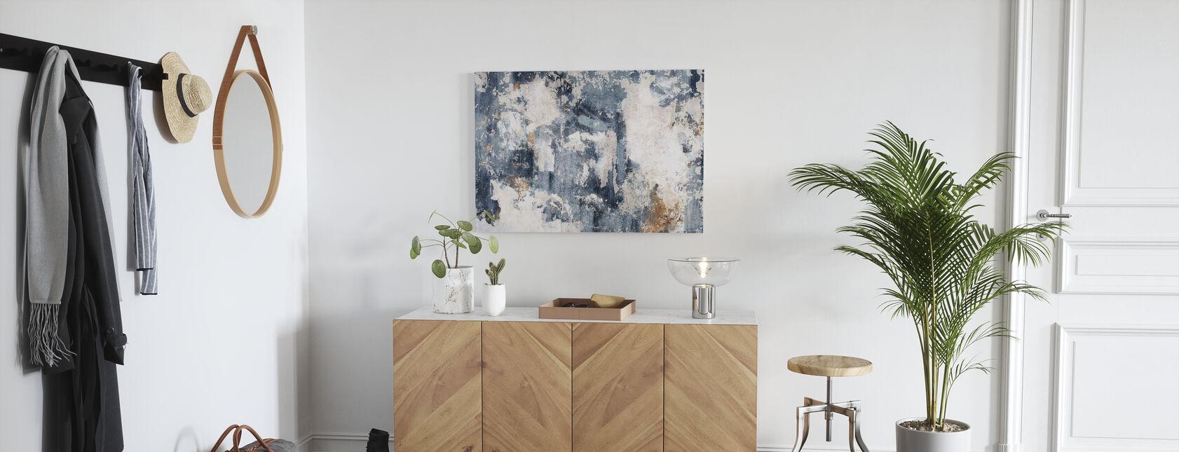 Grunge Wall - Bluish - Canvas print - Hallway