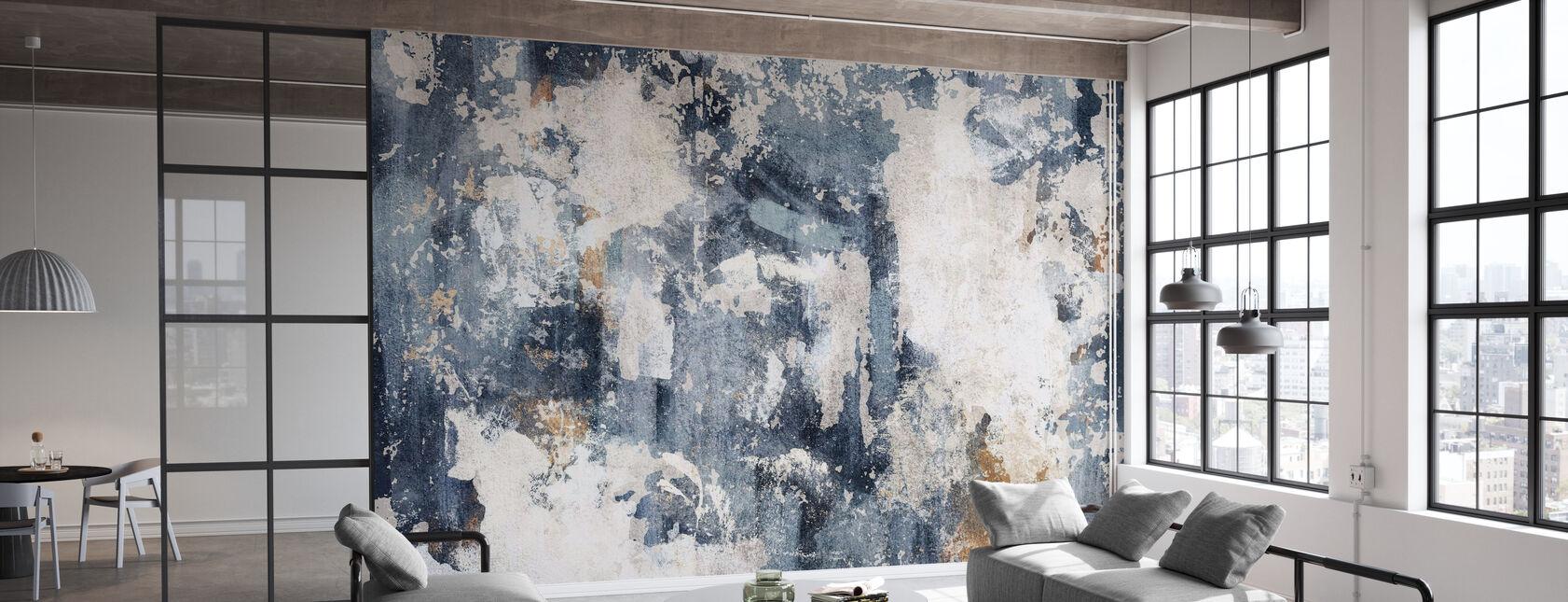 Grunge Mur - Bleuâtre - Papier peint - Bureau