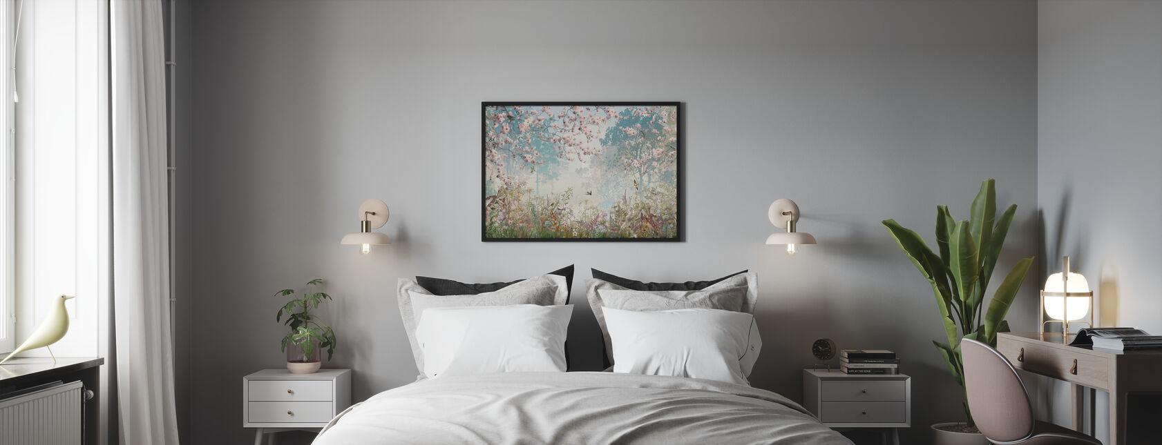 Sprankelende Garnder - Ingelijste print - Slaapkamer