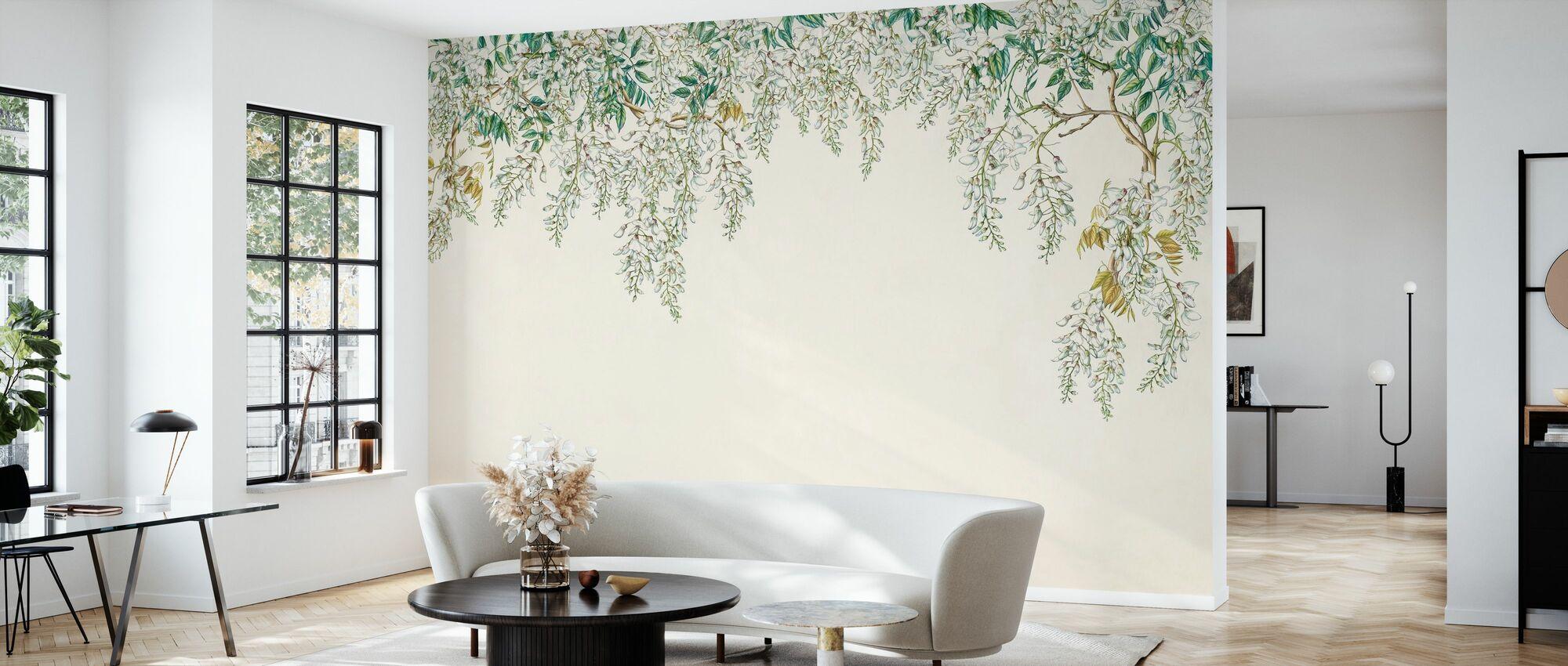 White Wisteria - Wallpaper - Living Room