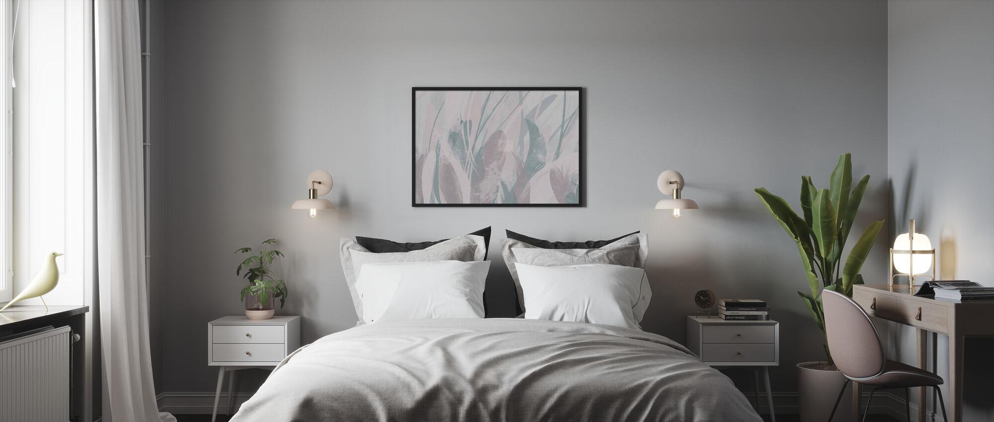 Piume astratte - Luminose - Poster - Camera da letto