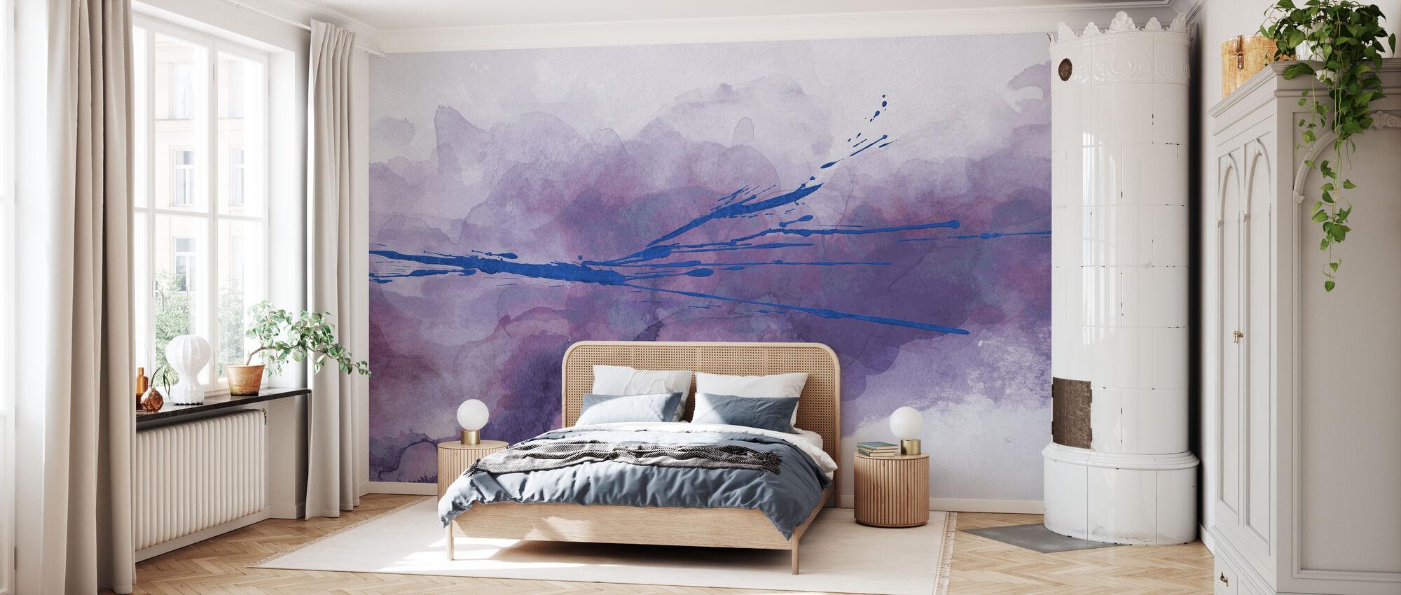 Accidental Watercolor - Violet - Wallpaper - Bedroom