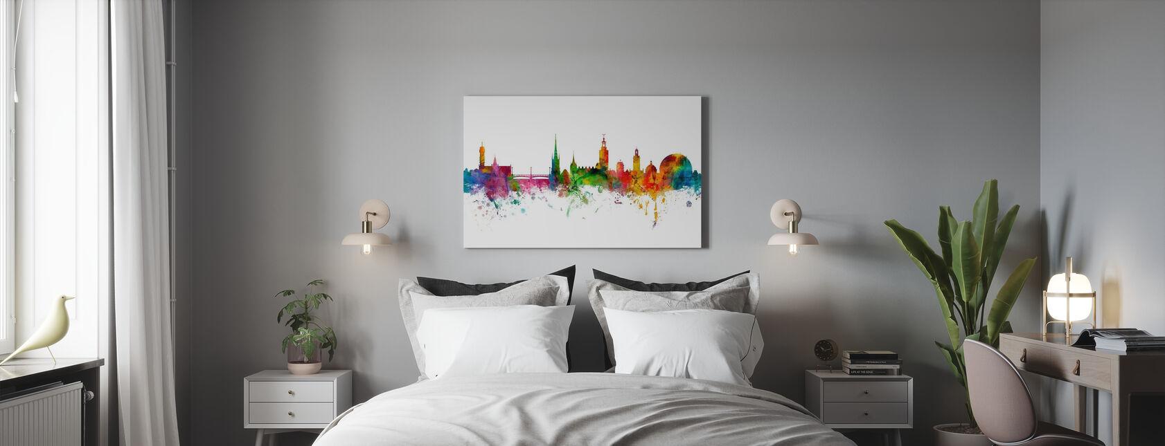 Tukholma - Canvastaulu - Makuuhuone
